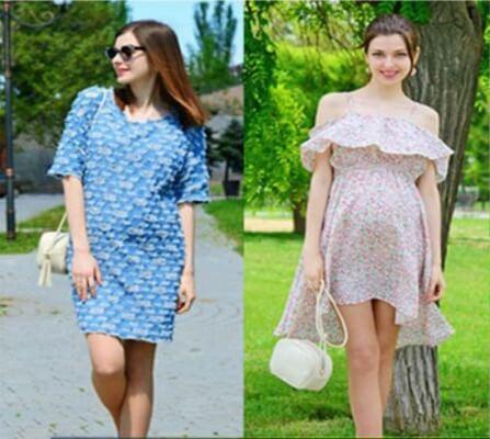 Mẹ lựa chọn váy bầu phù hợp với từng hoàn cảnh