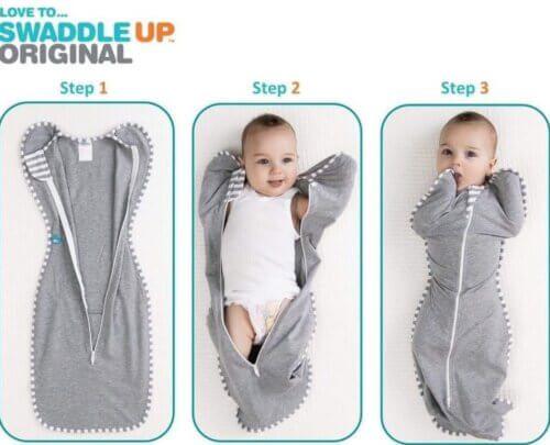 Quấn nhộng cho bé đơn giản với 3 bước