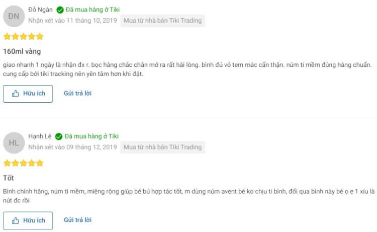 Nhận xét vô cùng chi tiết của người dùng trên Tiki.vn