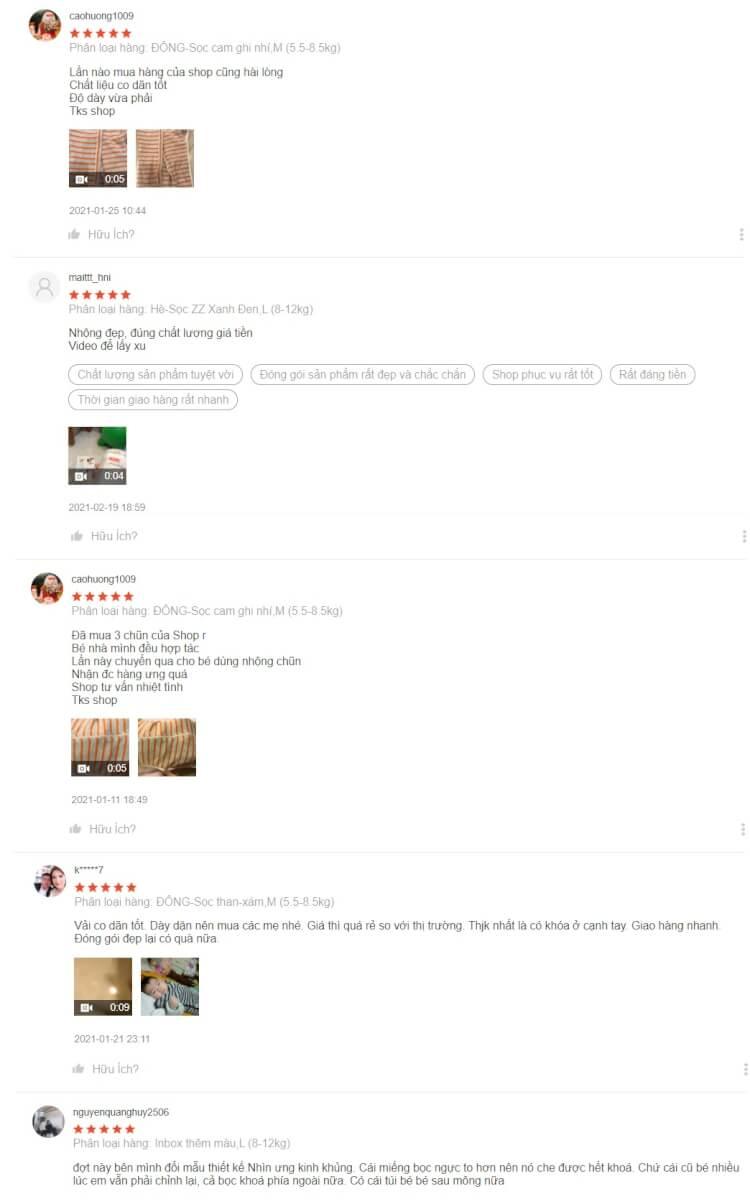 Review về nhộng quấn cho bé Noonon