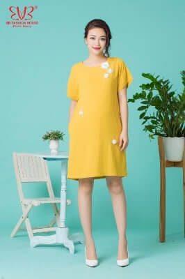 Thiết kế váy bầu suông đẹp cho mẹ