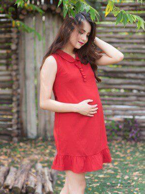 Váy mùa hè thoáng mát cho mẹ bầu