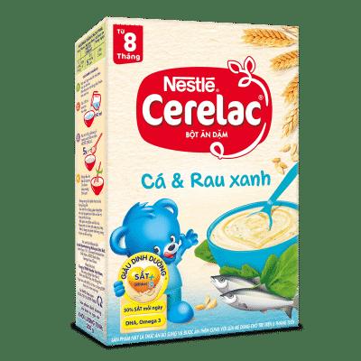 Nestle cá và rau xanh