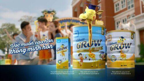 Sữa tăng chiều cao hươu cao cổ Abbott Grow quen thuộc