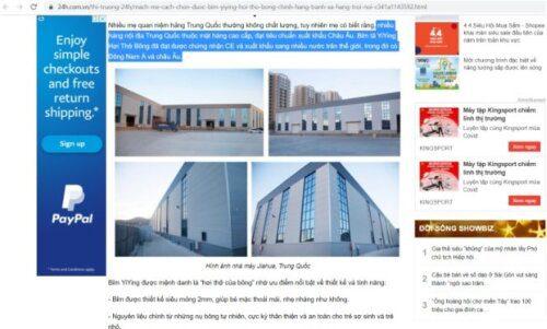 Bài viết v� bỉm nội địa của Trung Quốc trên báo 24h.com.vn