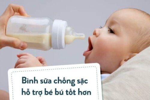 Bình sữa chống sặc hỗ trợ bé bú tốt hơn và an toàn hơn