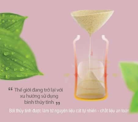 Bình sữa thủy tinh an toàn cho bé