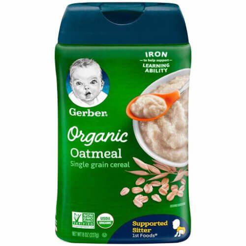 Gerber Organic Oatmeal ngũ cốc yến mạch