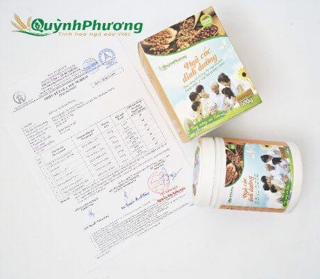giấy chứng nhận ngũ cốc quỳnh phương