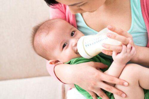 Bé thích nghi nhanh với sữa