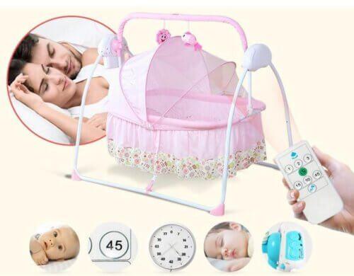 Sử dụng nôi rung điện tiện lợi cho bé và bố mẹ