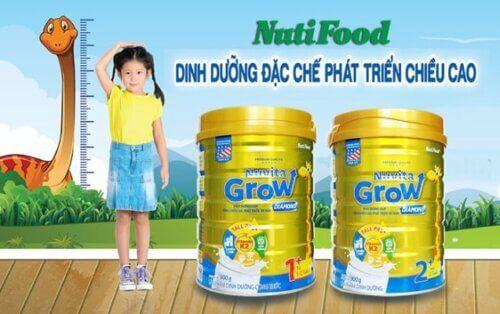 Sữa tăng chiều cao Nuvita Grow của Nutifood cho trẻ trên 1 tuổi