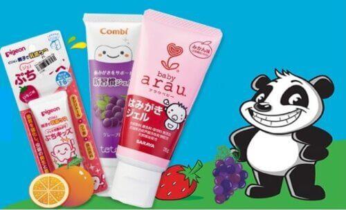 Các loại kem đánh răng cho bé nổi tiếng của Nhật