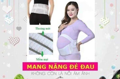 Mẹ chú ý lựa chọn chất liệu và kích cỡ đai phù hợp với cơ thể