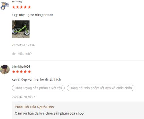 Một vài nhận xét của người dùng về sản phẩm