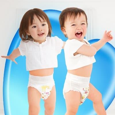 Bỉm quần cho bé thoải mái vận động