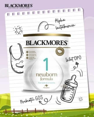 Sữa Blackmores số 1 đảm bảo nguồn dinh dưỡng cho trẻ từ 0-6 tháng tuổi