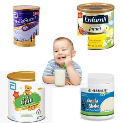 Các loại sữa giúp tăng cân cho trẻ của Mỹ