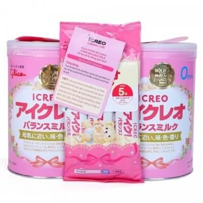 Sữa Glico số 0 hộp thiếc và dạng thanh tiện lợi