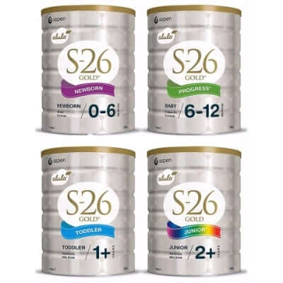 Sữa S26 số 1 và số 2 là lựa chọn hoàn hảo cho bé từ 0 - 12 tháng tuổi