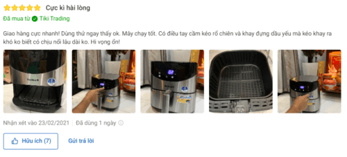 Sản phẩm nhận được nhi�u l�i khen ngợi trên Tiki