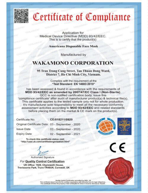 Sản phẩm đạt các tiêu chuẩn chất lượng quốc tế