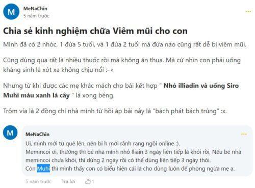 Review siro ho Muhi trên diễn đàn Webtretho.com