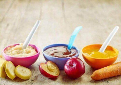 Bột ăn dặm vị mặn kết hợp thêm rau củ quả