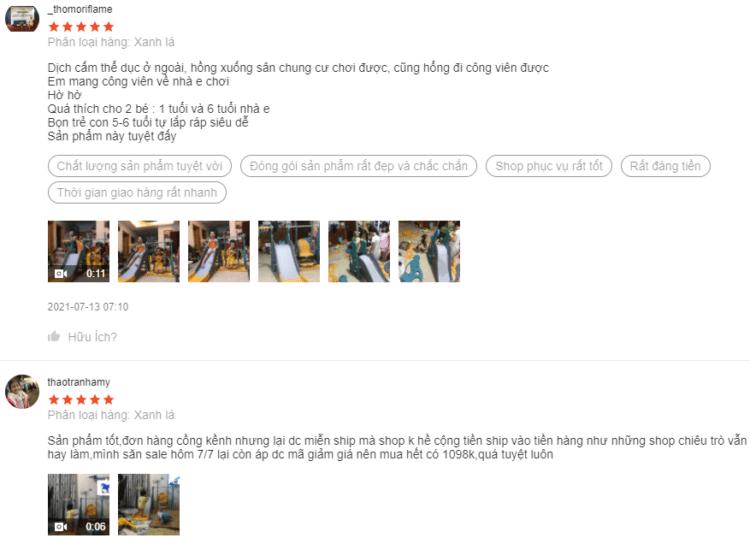 Phản hồi của người dùng cho thấy chất lượng sản phẩm rất tốt