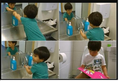 Ba mẹ cũng nên tập cho con thói quen vệ sinh giống như người lớn trước khi bỏ bỉm