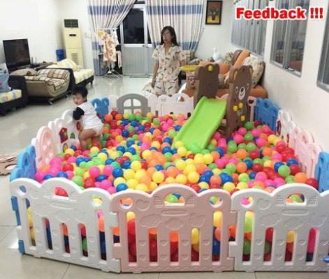 Không gian vui chơi cho trẻ rộng rãi, an toàn