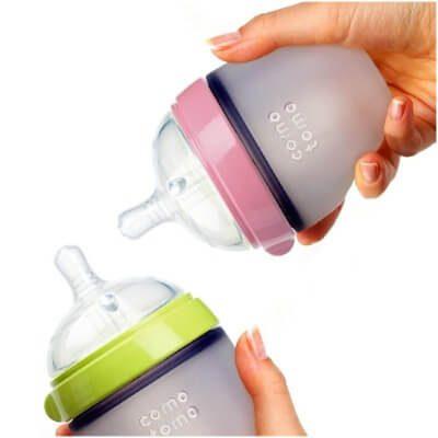 Núm ti của bình sữa Comotomo từ chất liệu silicone an toàn mềm mại