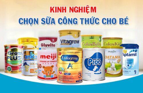 Một số thương hiệu sữa dành cho trẻ sơ sinh trên thị trường hiện nay