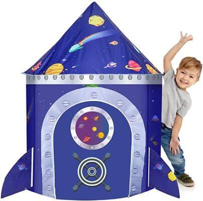 Lều hình tên lửa cho bé trai