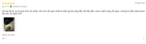 Sản phẩm nhận được nhiều đánh giá tích cực của người dùng trên Tiki