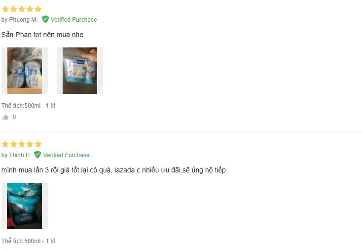 Phản hồi của người dùng trên Lazada