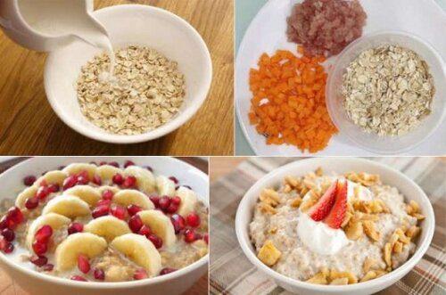 Các chị em có thể thêm trái cây và sữa vào yến mạch để tăng thêm dinh dưỡng nhé
