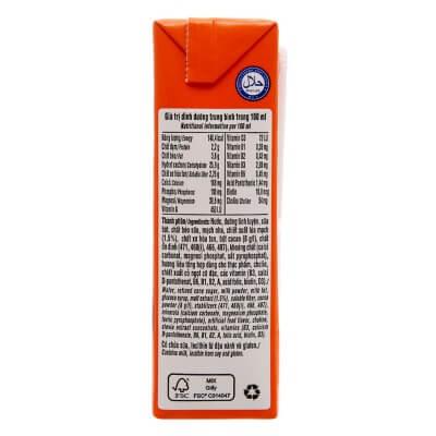 thành phần sữa ovaltine